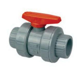 Nibco® Chemtrol® MB599AH Orange Handle CPVC True Union Full Port Ball Valve, 4 in, Socket Weld, 150 psi, 210 deg F