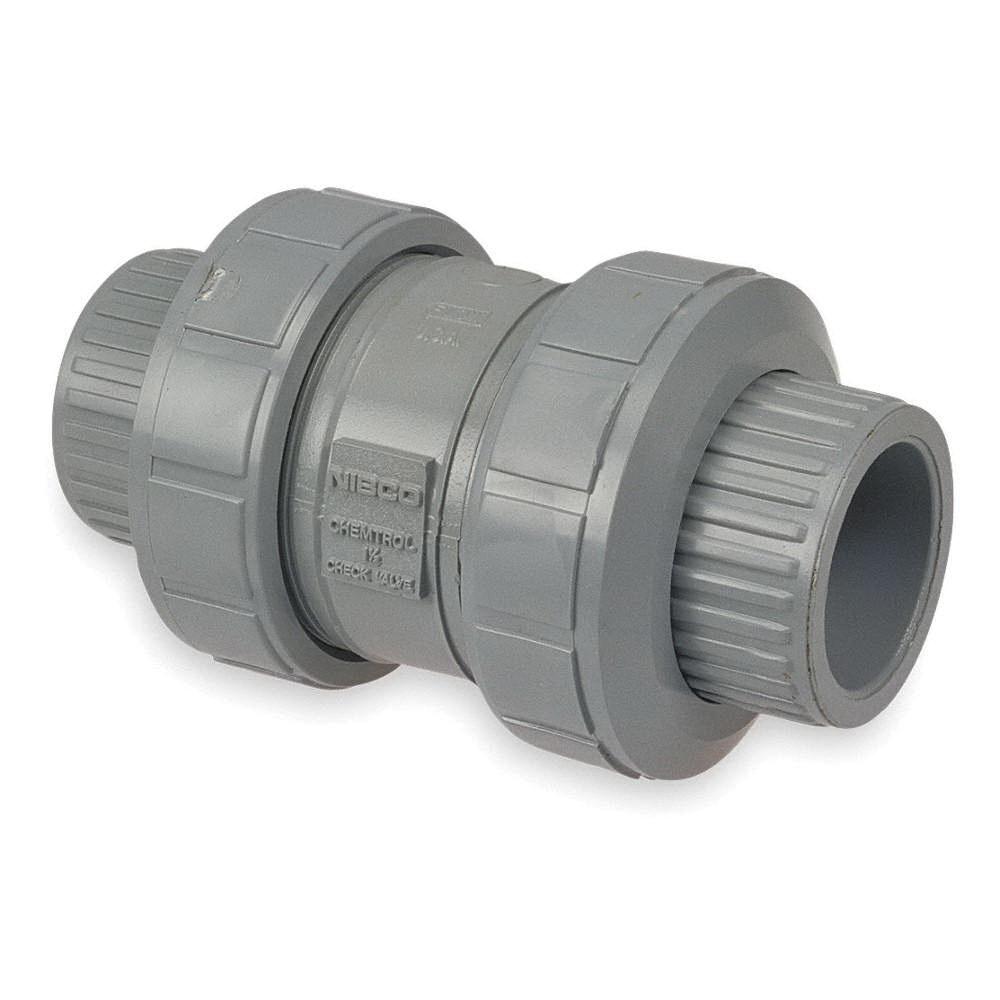 Nibco® Chemtrol® SCH 80 CPVC True Union Ball Check Valve, Socket/FNPT, 150 psi, 210 deg F