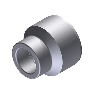Niron 27NR7550 Gray PP-RCT Type B Reducer Bushing, 2-1/2 in x 1-1/2 in, Spigot x Socket Fusion
