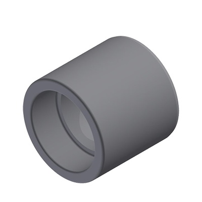 Niron 27NR9063 Gray PP-RCT Type C Reducer Bushing, 3 in x 2 in, Spigot x Socket Fusion