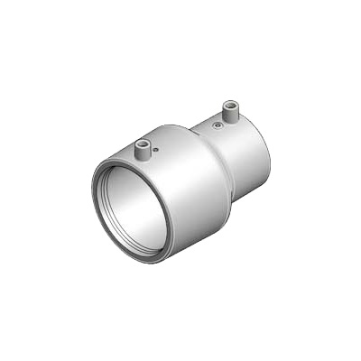 Niron 27NRDE6332 Gray PP-RCT Concentric Reducer, 2 in x 1 in, Electrofusion