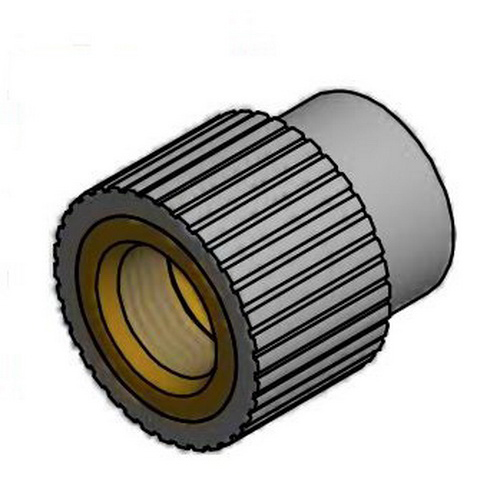 Niron 27NRFF2012SSNPT PP-RCT Type A Adapter, 1/2 in, Socket Fusion x Stainless Steel FNPT