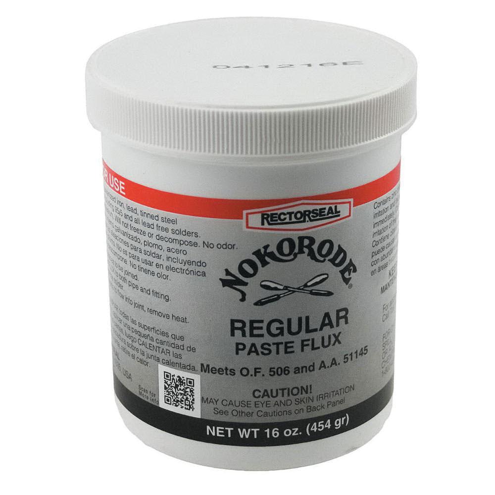 NOKORODE® 14030 Regular Soldering PasteFlux, Tan/Gold to Black, 1 lb Jar, 40 - 120 deg F