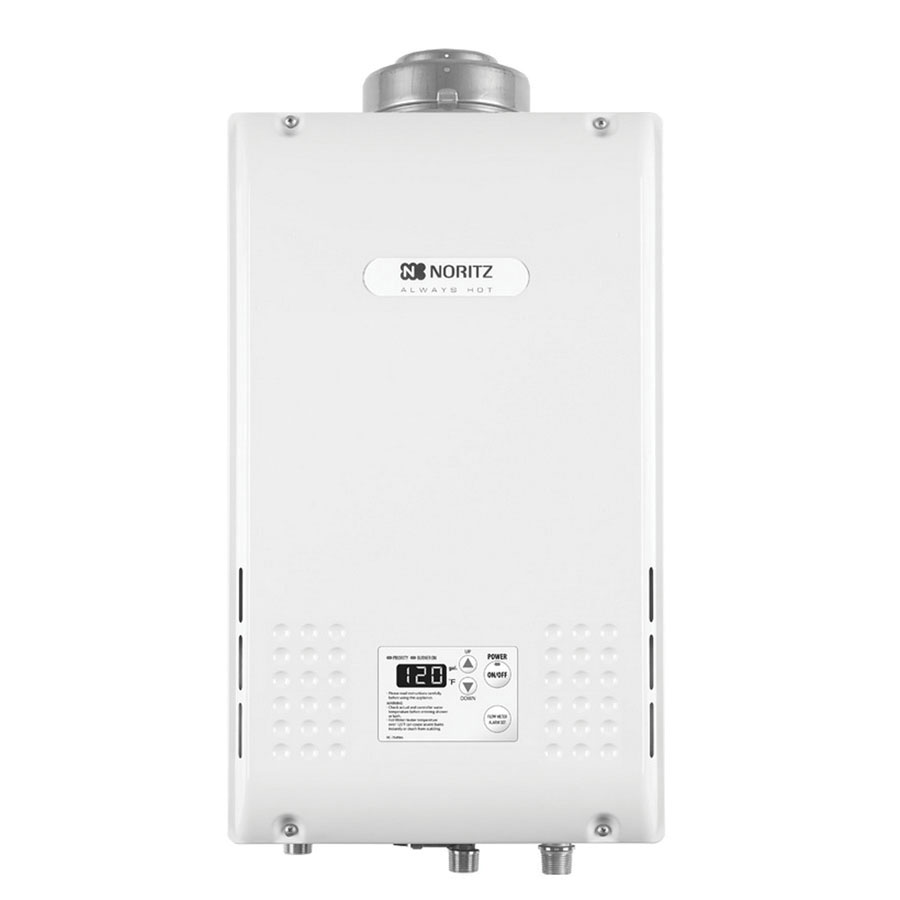 Noritz® NR98-DVC-NG Polyester Coated Steel Wall Mount Residential Condensing Tankless Natural Gas Water Heater, 85 W, 3/4 in