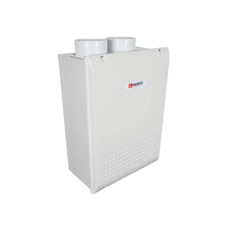 Noritz® NRC1111-DV Polyester Coated Steel Wall Mount Residential Condensing Tankless Gas Water Heater, 3/4 in