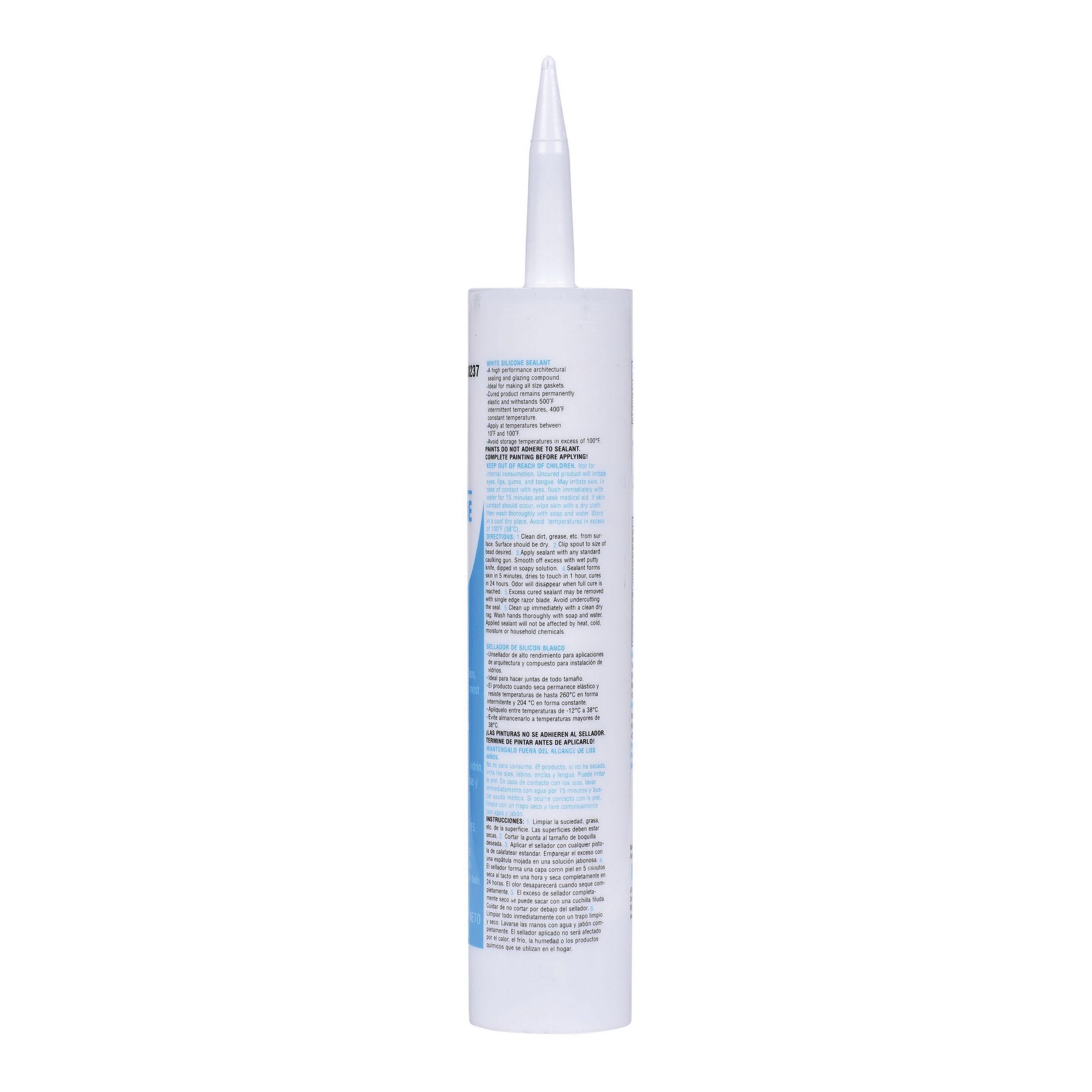Oatey® 30237 Silicone Caulk, 10.3 oz Cartridge, White