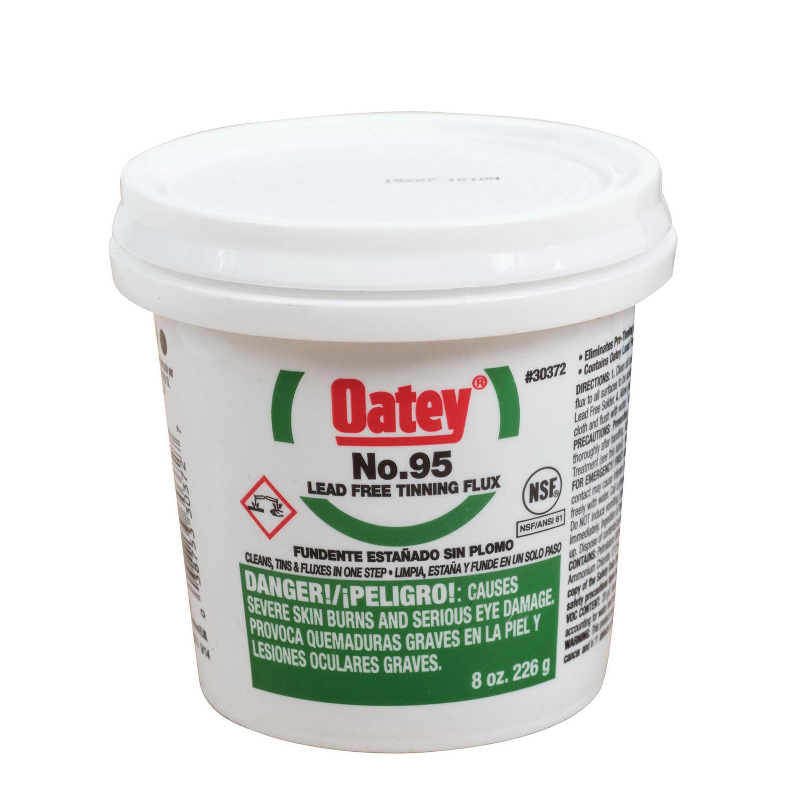 Oatey® 30372 Tinning Flux, Yellow, 8 oz Pail, 400 - 700 deg F