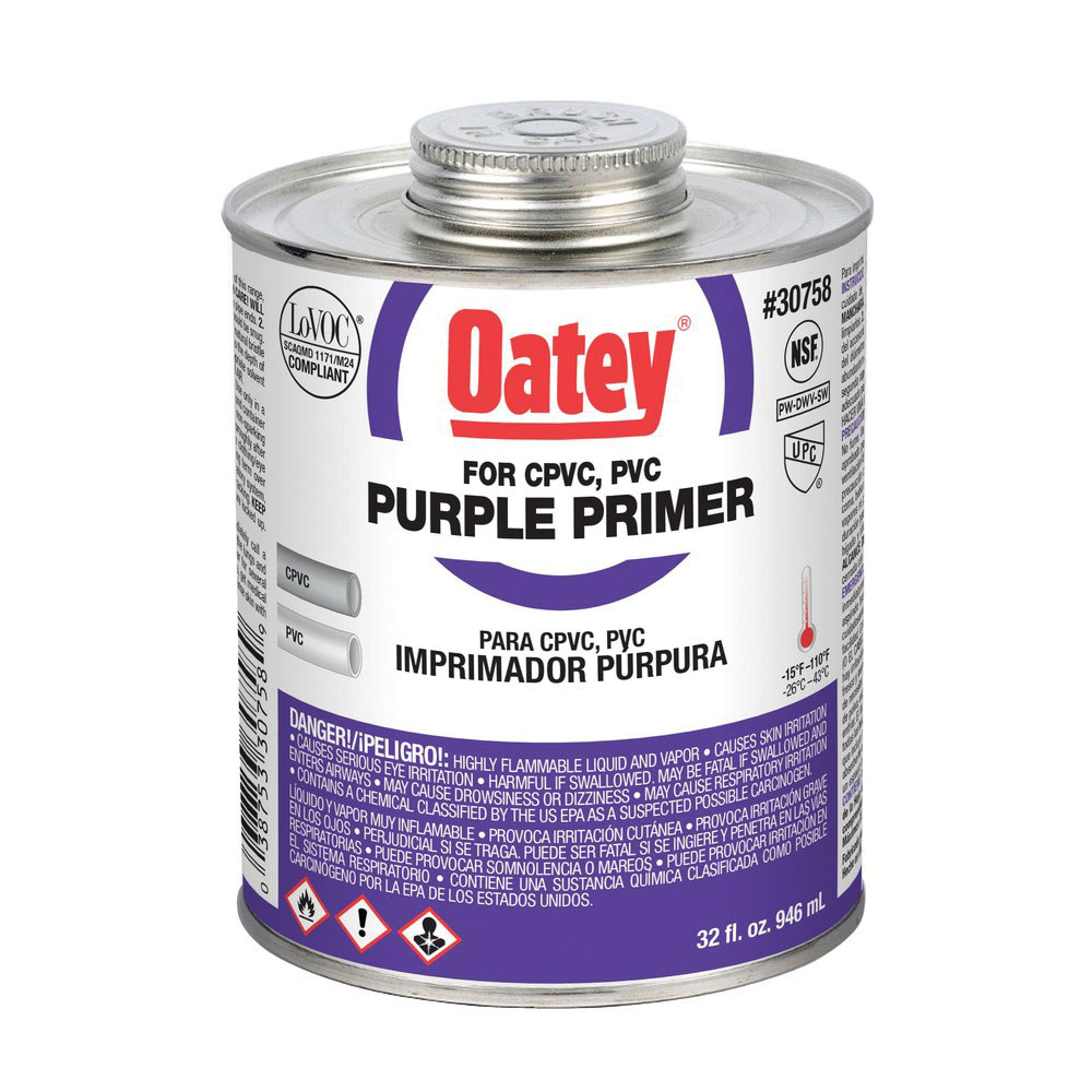 Oatey® 30758 Primer, 32 oz Can, Purple