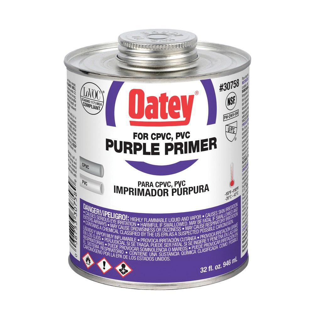 Oatey® 30758 Primer, 32 oz Can, Purple