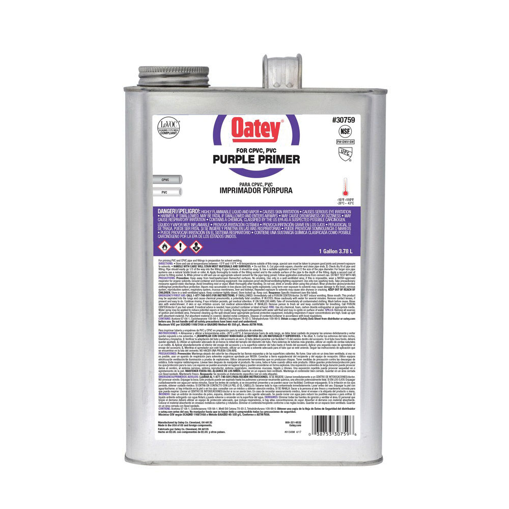 Oatey® 30759 Primer, 1 gal Can, Purple