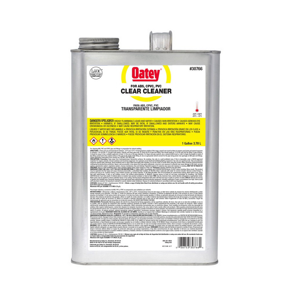 Oatey® 30766 All Purpose Cleaner, 1 gal Can, Clear