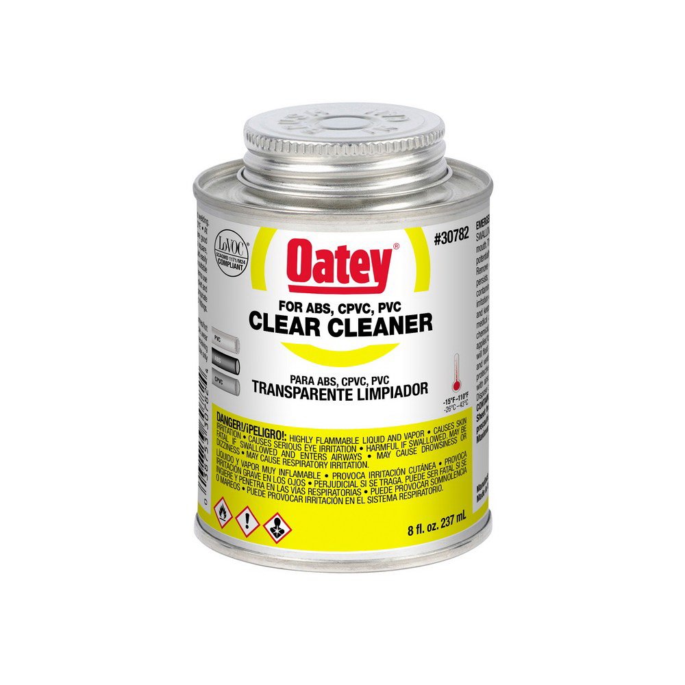 Oatey® 30782 All Purpose Cleaner, 0.5 pt Can, Clear