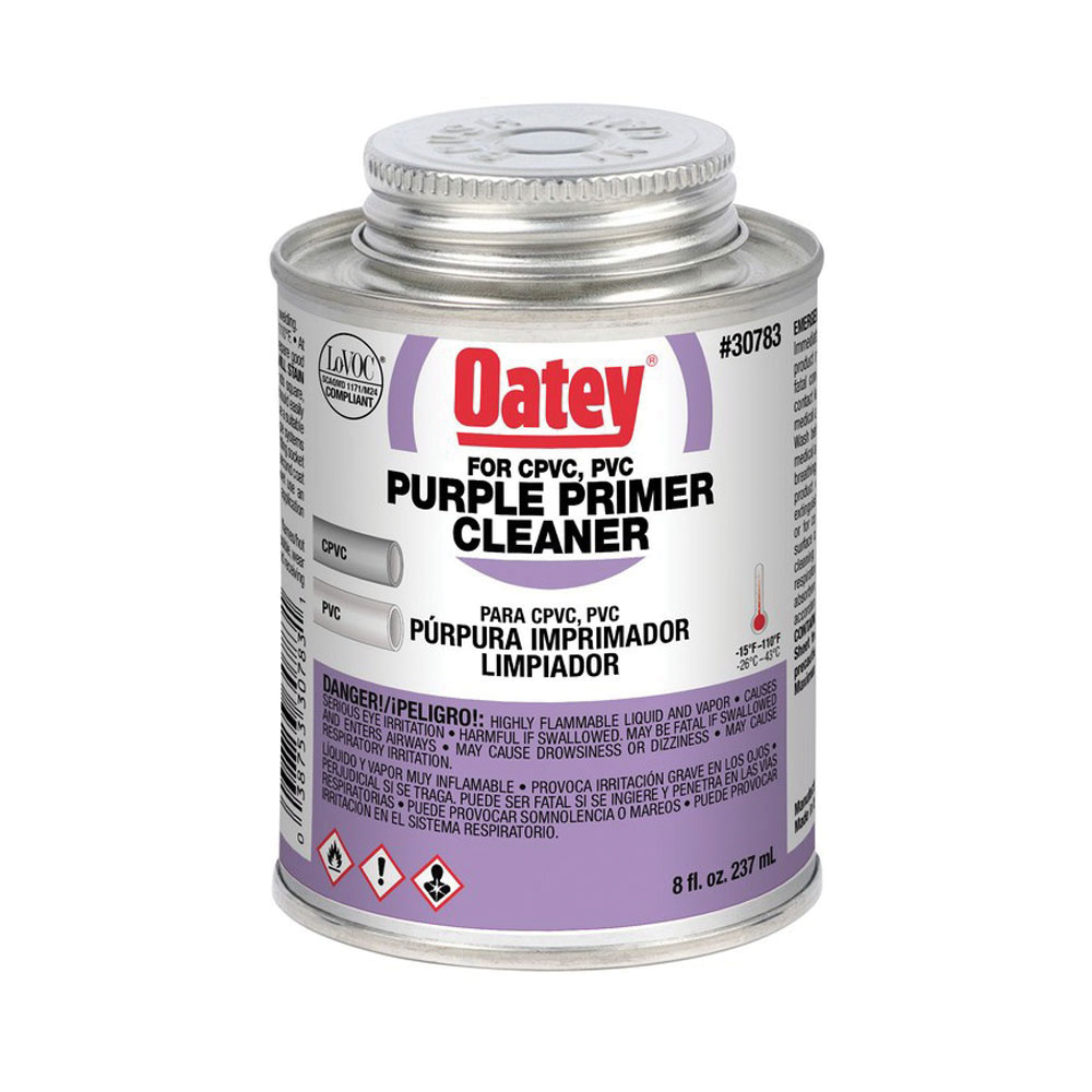 Oatey® 30783 Dual Purpose Primer/Cleaner, 8 oz Can, Purple