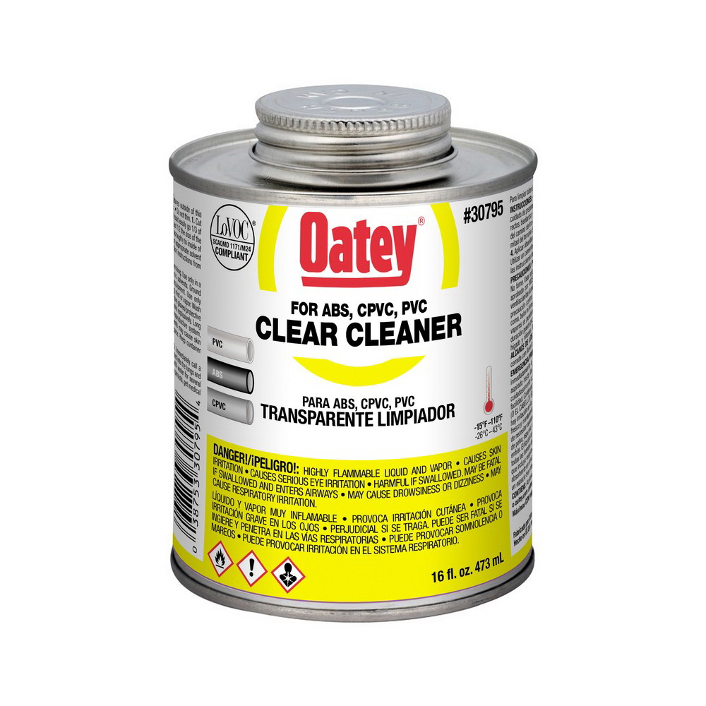 Oatey® 30795 All Purpose Cleaner, 1 pt Can, Clear