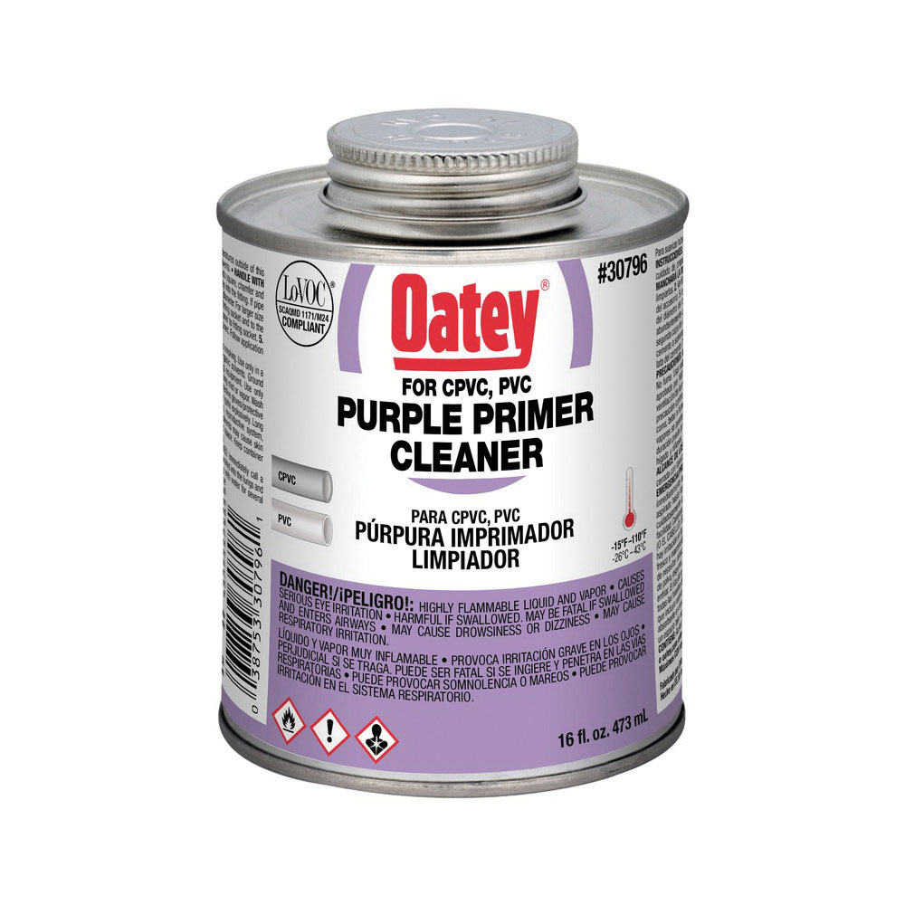Oatey® 30796 Dual Purpose Primer/Cleaner, 16 oz Can, Purple