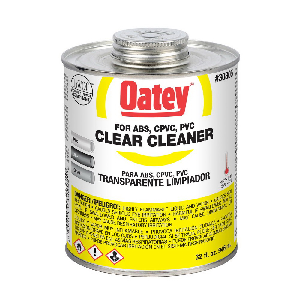 Oatey® 30805 All Purpose Cleaner, 1 qt Can, Clear