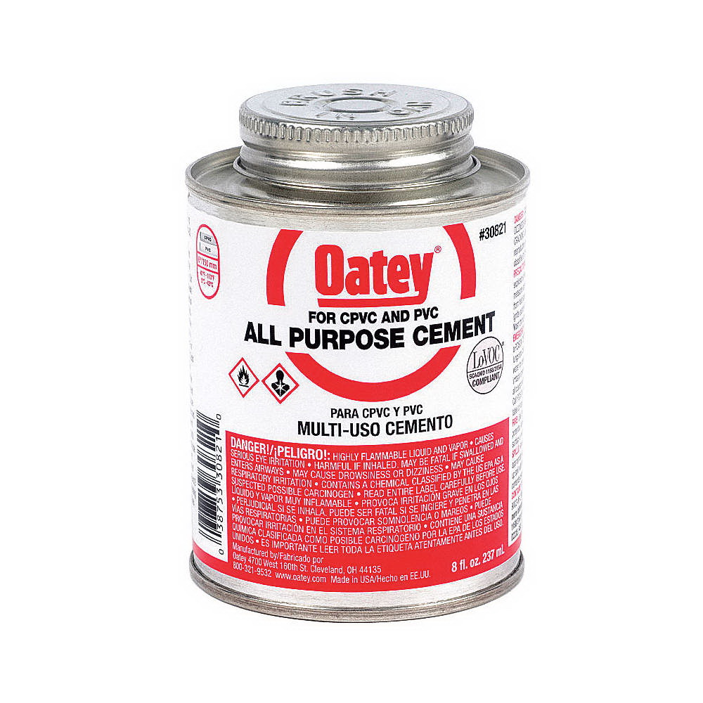 Oatey® 30821 All Purpose Cement, 8 oz Can, Milky Clear
