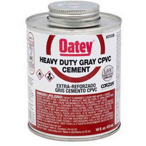 Oatey® 31037 Heavy Duty CPVC Cement, 32 oz Can, Gray