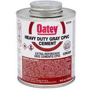 Oatey® 31037 Heavy Duty CPVC Cement, 32 oz Can, Gray