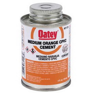 Oatey® 31130 Medium CPVC Cement, 16 oz Can, Orange