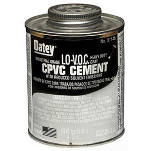 Oatey® 31148 Heavy Duty CPVC Cement, 16 oz Can, Gray