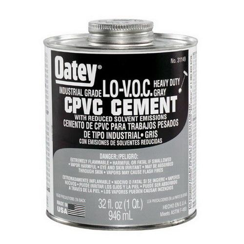 Oatey® 31149 Heavy Duty CPVC Cement, 32 oz Can, Gray