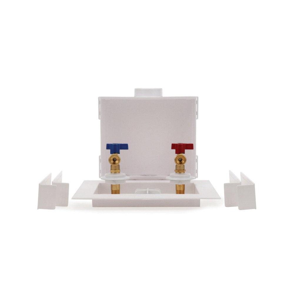 Oatey® Quadtro® 38530 White Polystyrene Washing Machine Outlet Box, 2 in, Copper