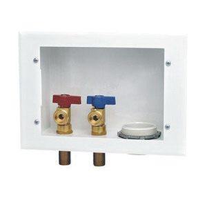 Oatey® 38981 White 20 ga Steel Reversible Washing Machine Outlet Box, 1/2 in, Copper