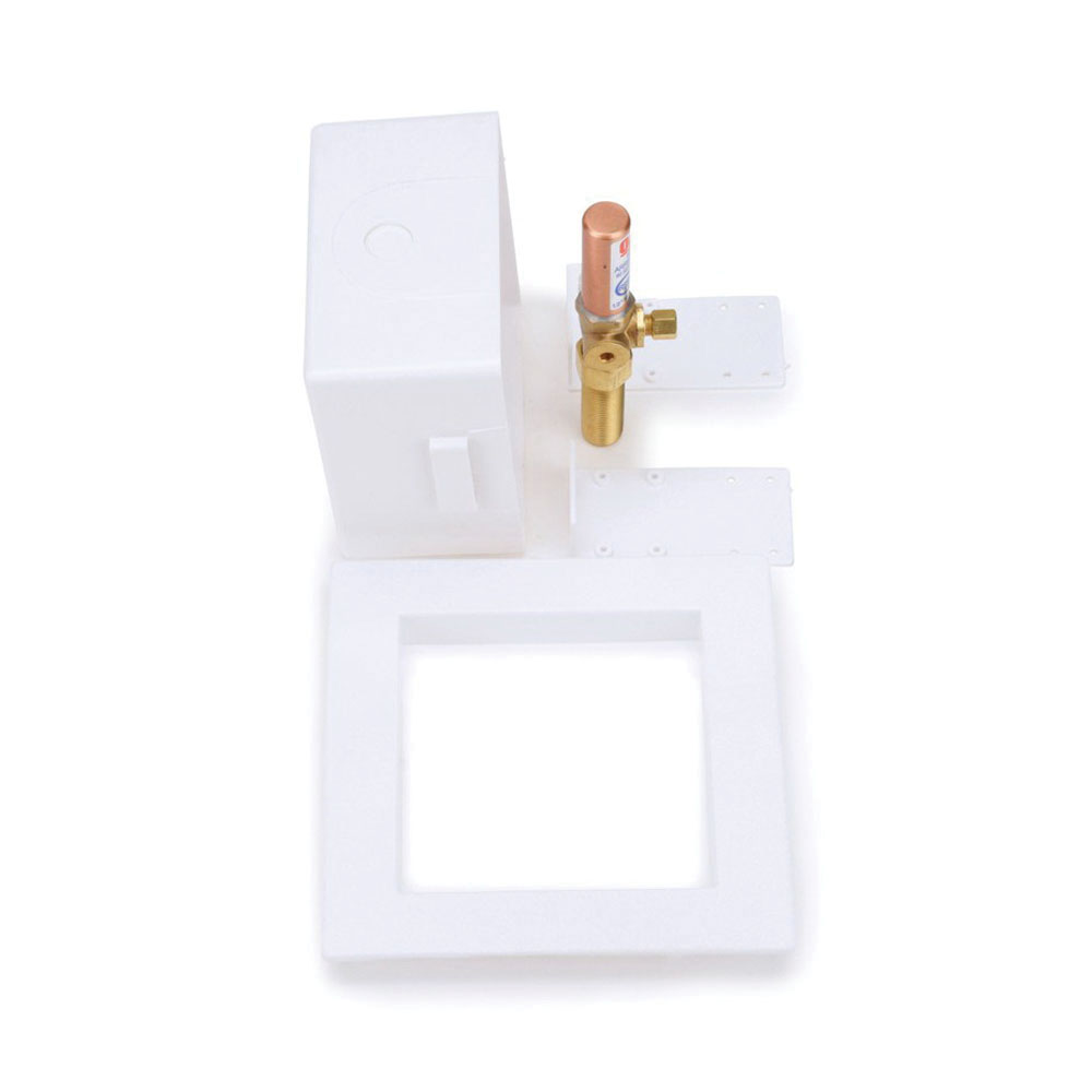 Oatey® 39152 White Polystyrene Square Ice Maker Outlet Box, 1/2 in, Copper