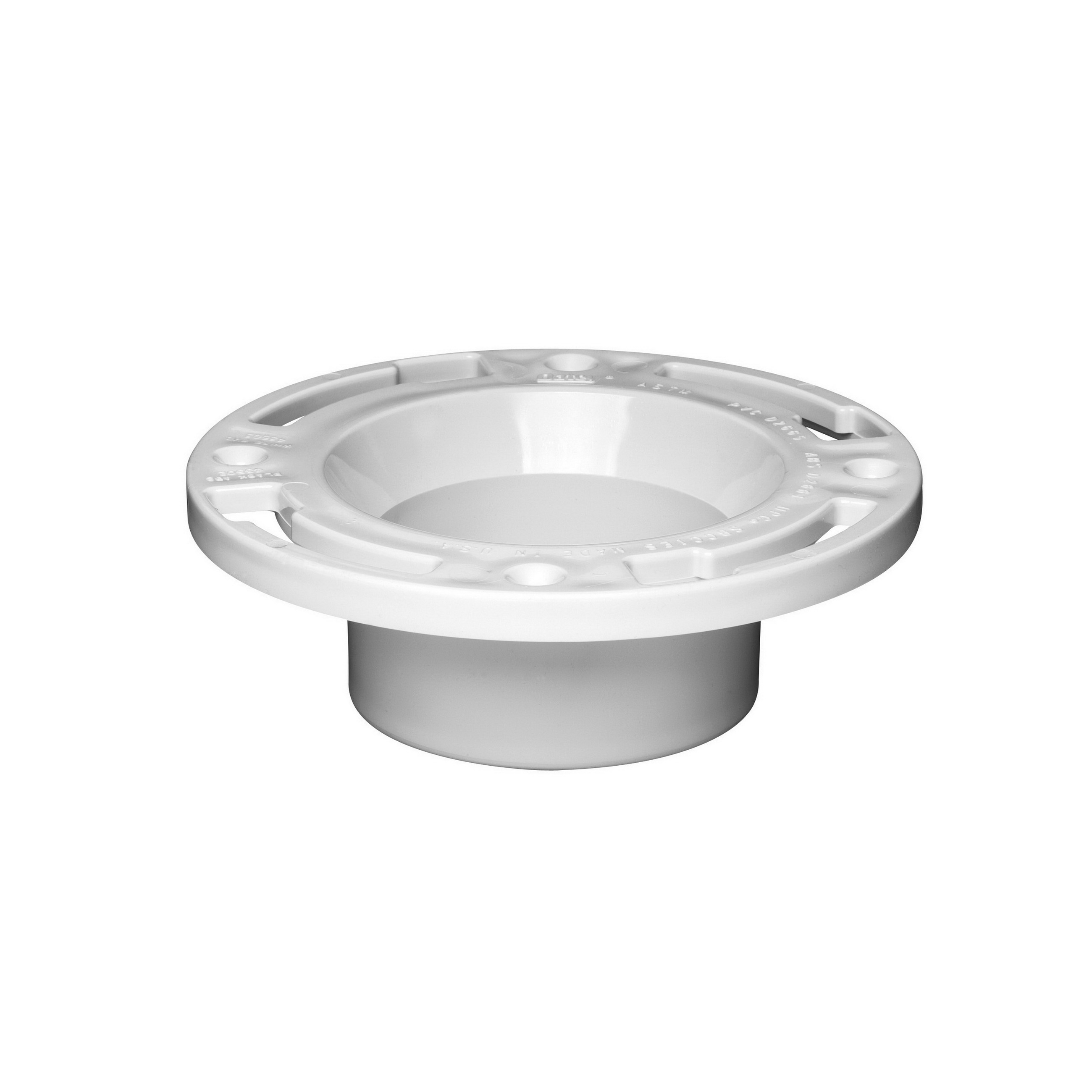 Oatey® 43503 White PVC SCH 40 Level Fit Closet Flange with Plastic Ring, 3 - 4 in