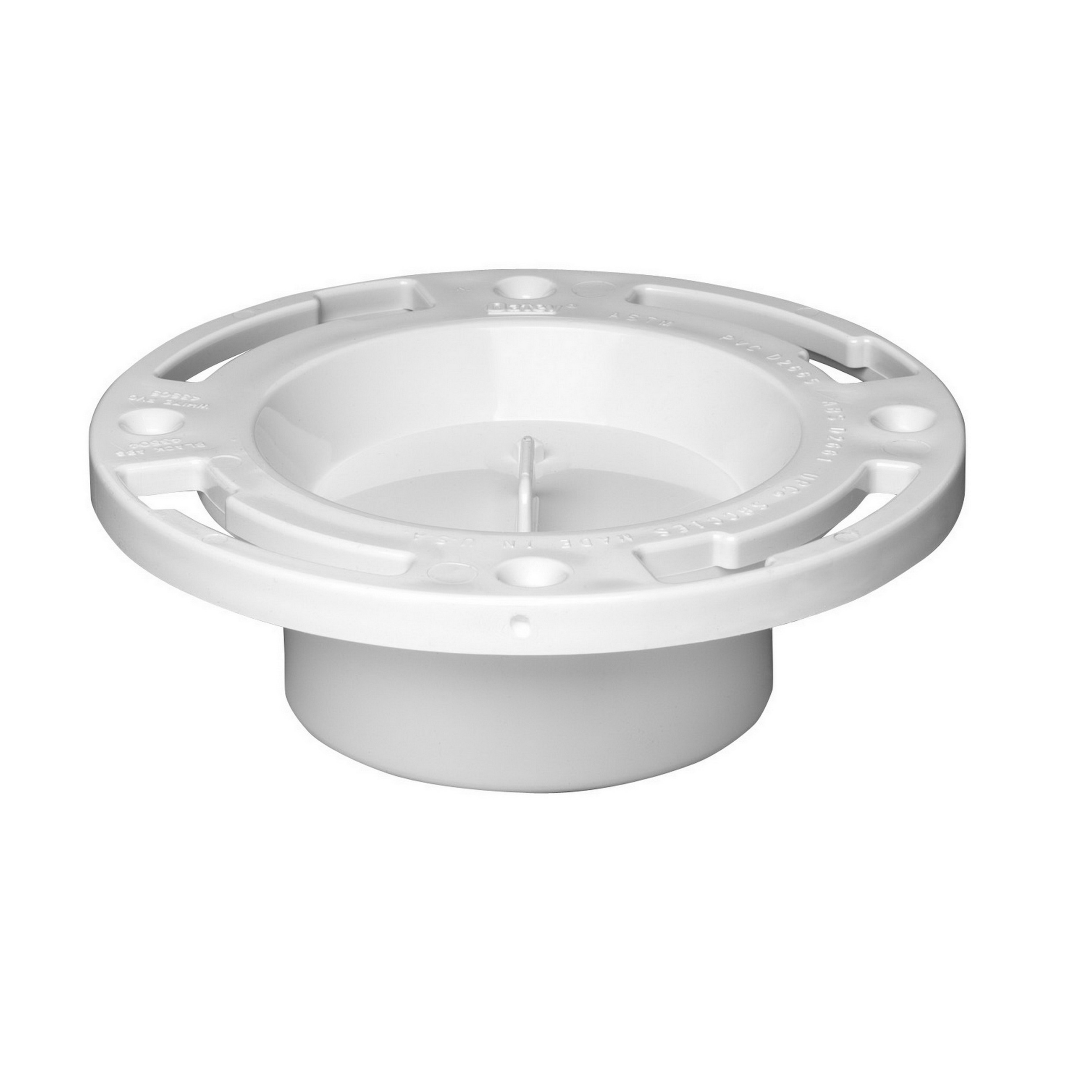Oatey® 43507 White PVC SCH 40 Level Fit Closet Flange with Plastic Ring, 3 in