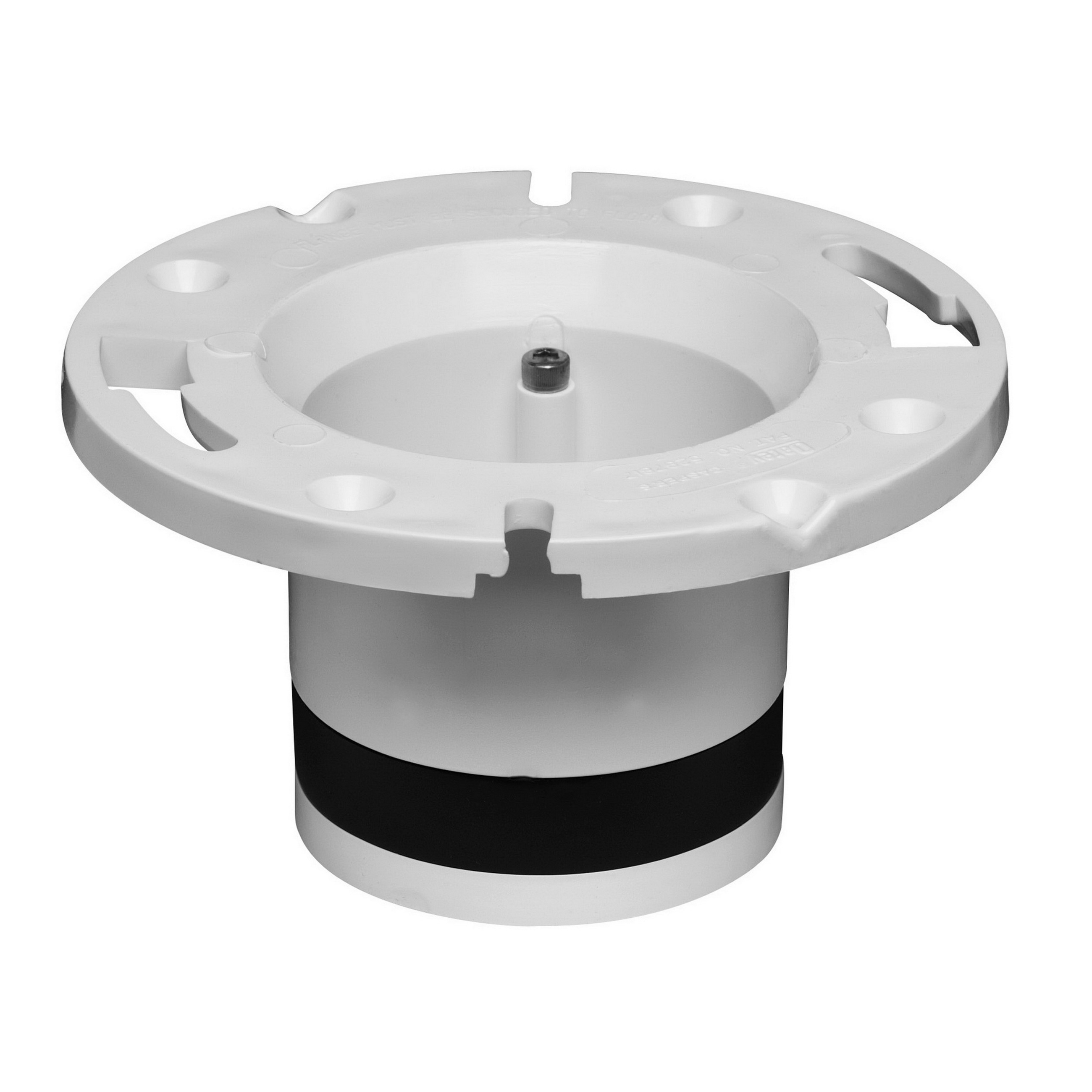 Oatey® 43539 White/Black PVC Replacement Closet Flange, 4 in