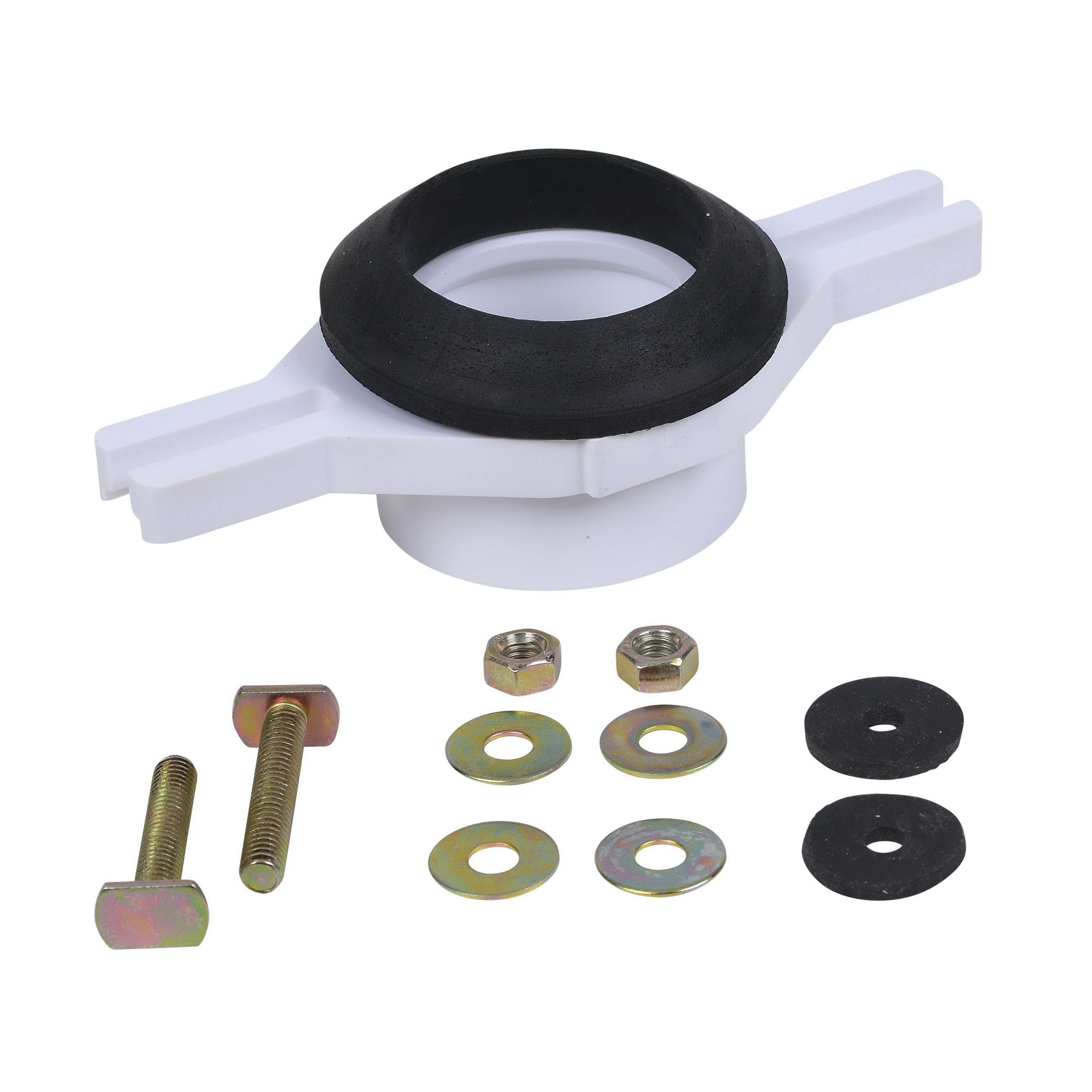 Oatey® 43541 White PVC Horizontal Adjustable Urinal Flange Kit for 2 in SCH 40 DWV Pipe