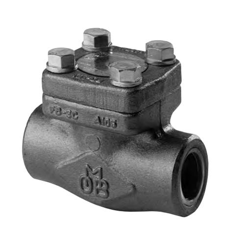 OMB® 840-8-SW Forged Carbon Steel Regular Port Piston Check Valve, Socket Weld, 1975 psi, 100 deg F