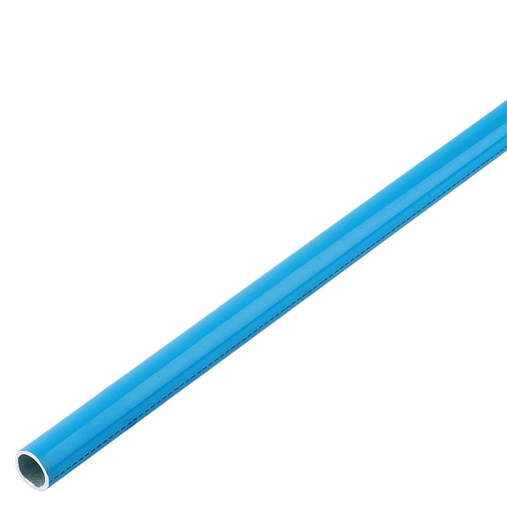 Parker® Transair® 1013A17 04 00 Powder Coated/Blue Aluminum Rigid Pipe, 1/2 in x 9 ft