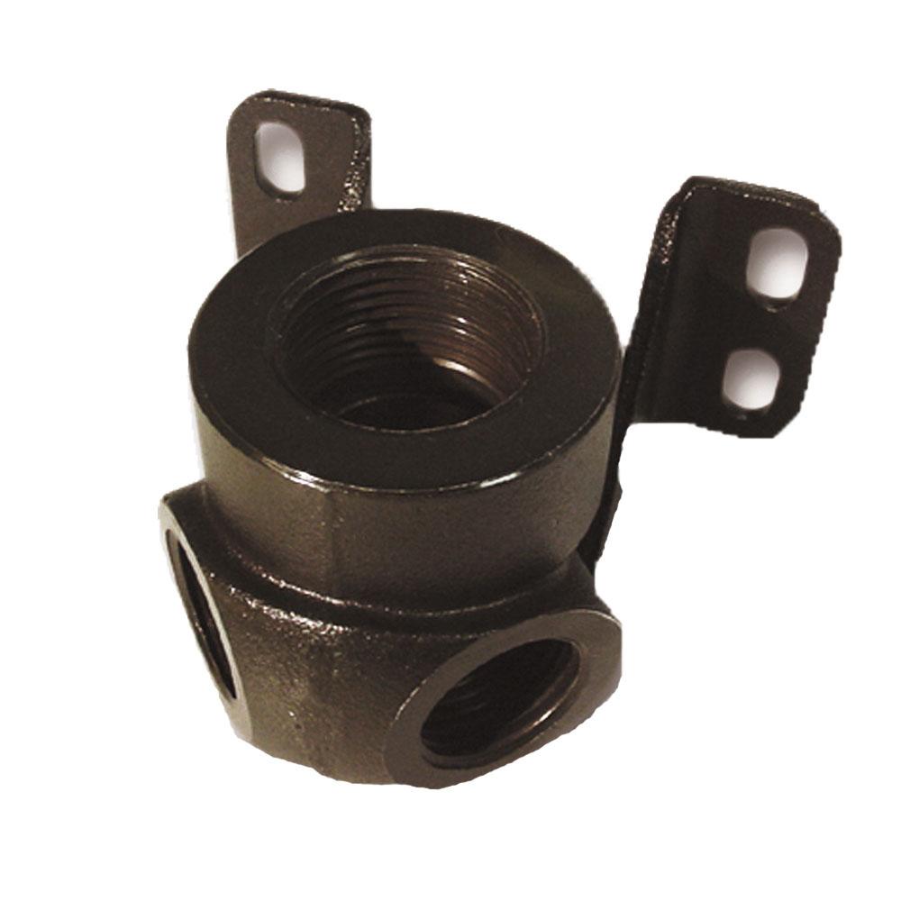 Parker® Transair® 6688 22 22 Treated Brass 2-Port 90 deg Wall Bracket, 1/2 in, 2-7/8 in L