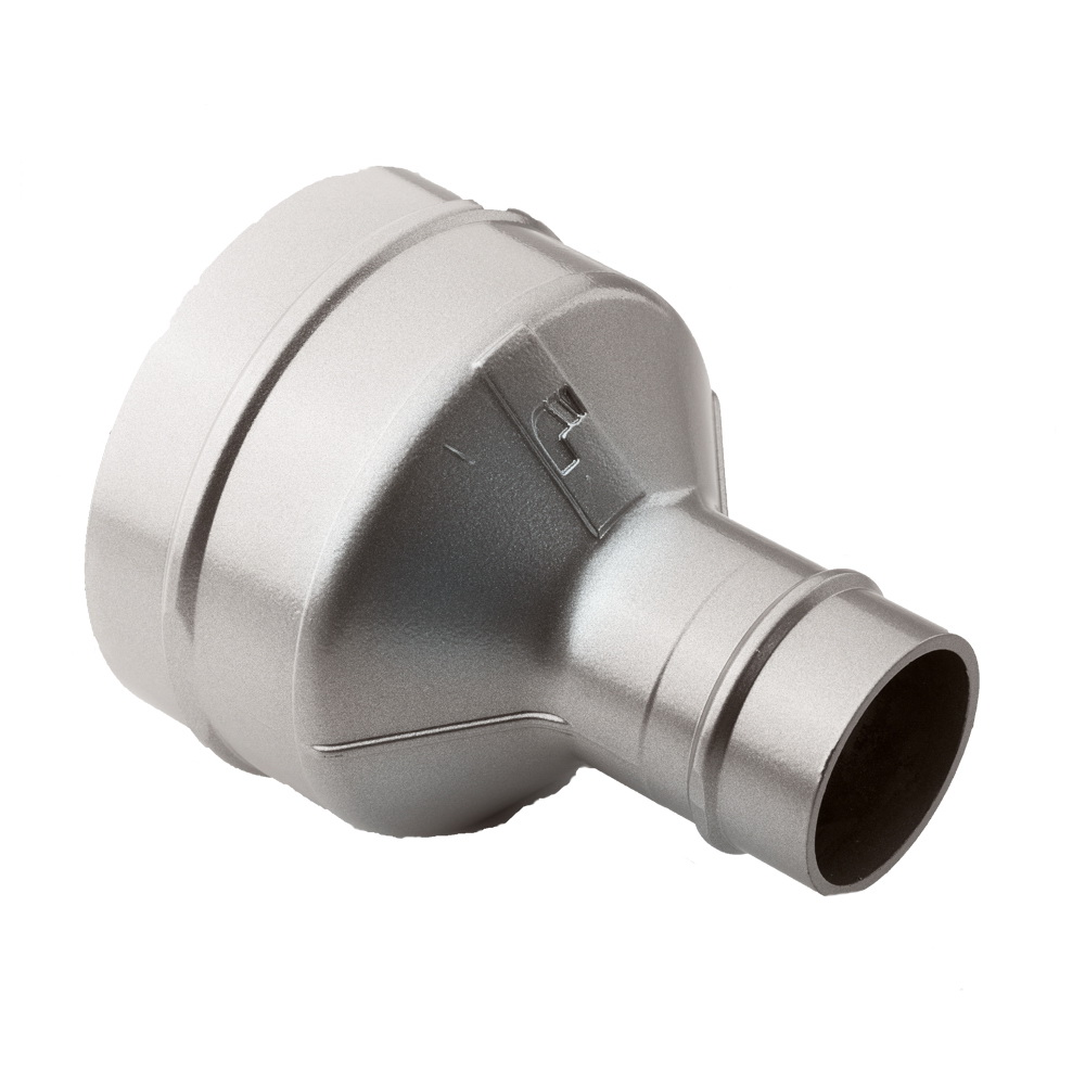 Parker® Transair® RA66 L8 L3 Aluminum Treated Lightweight Inline Reducer, 6 in x 4 in, Plug-In