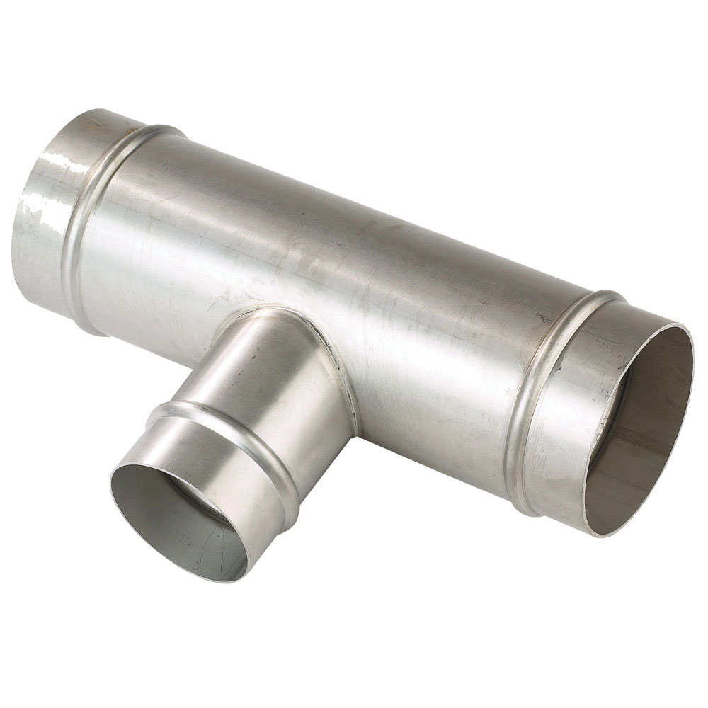 Parker® Transair® RX24 L1 40 304 Stainless Steel Reducing Tee, 3 in x 1-1/2 in