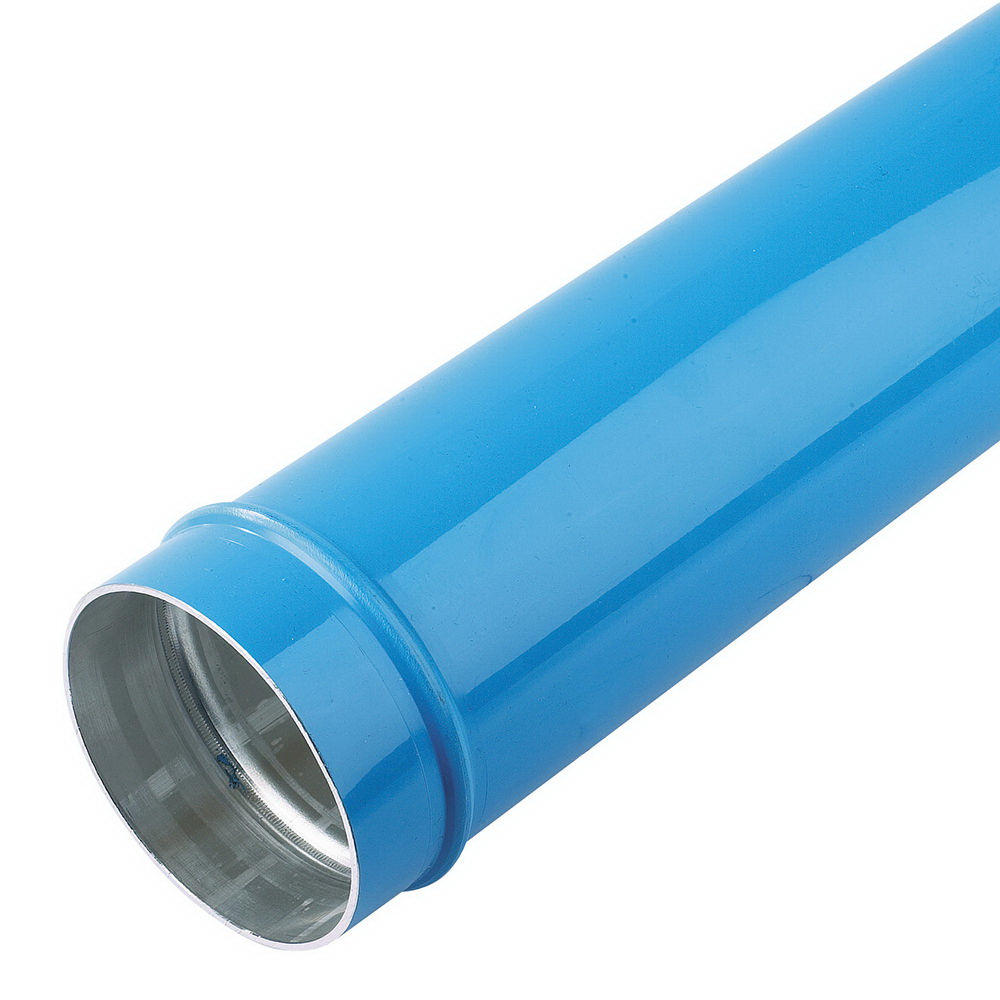 Parker® Transair® TA16 L8 04 Powder Coated/Blue Aluminum Rigid Pipe, 6 in x 20 ft