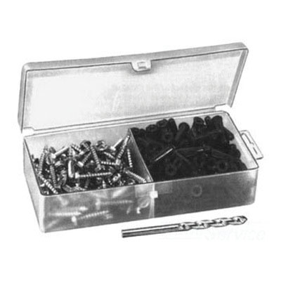 PASCO 1598 Collar Anchor Set Includes (100) #4 - 6 Anchors, (100) 1 in x #6 Phillips Hex Head Screws