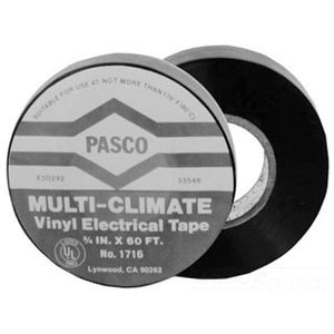 PASCO 1716 Vinyl Electrical Tape, 3/4 in x 60 ft