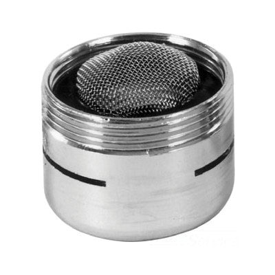 PASCO 2105 Chrome Plated Brass Premium Quality Slotted Aerator, 15/16 in - 55/64-27, 2.2 gpm at 60 psi, 2.5 gpm at 80 psi