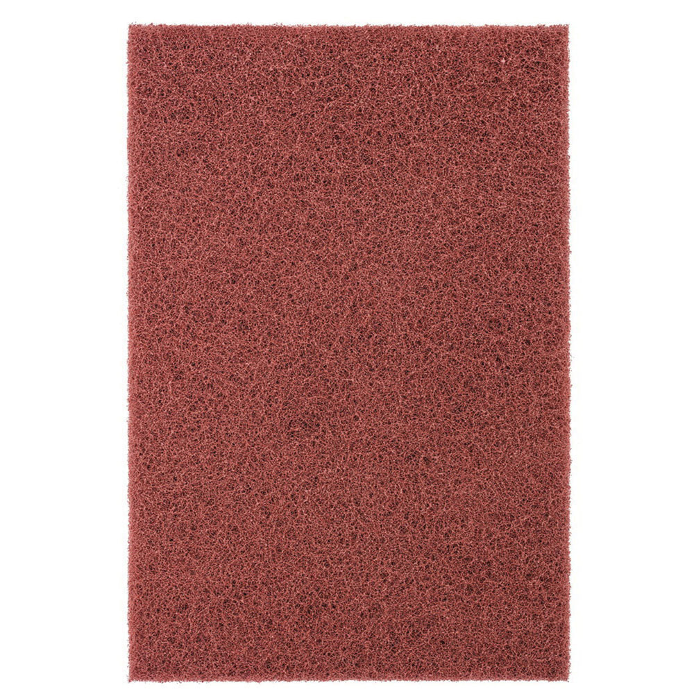 PFERD POLIVLIES® 44600 Aluminum Oxide Abrasive General Purpose Hand Pad, Maroon, 9 in L x 6 in W