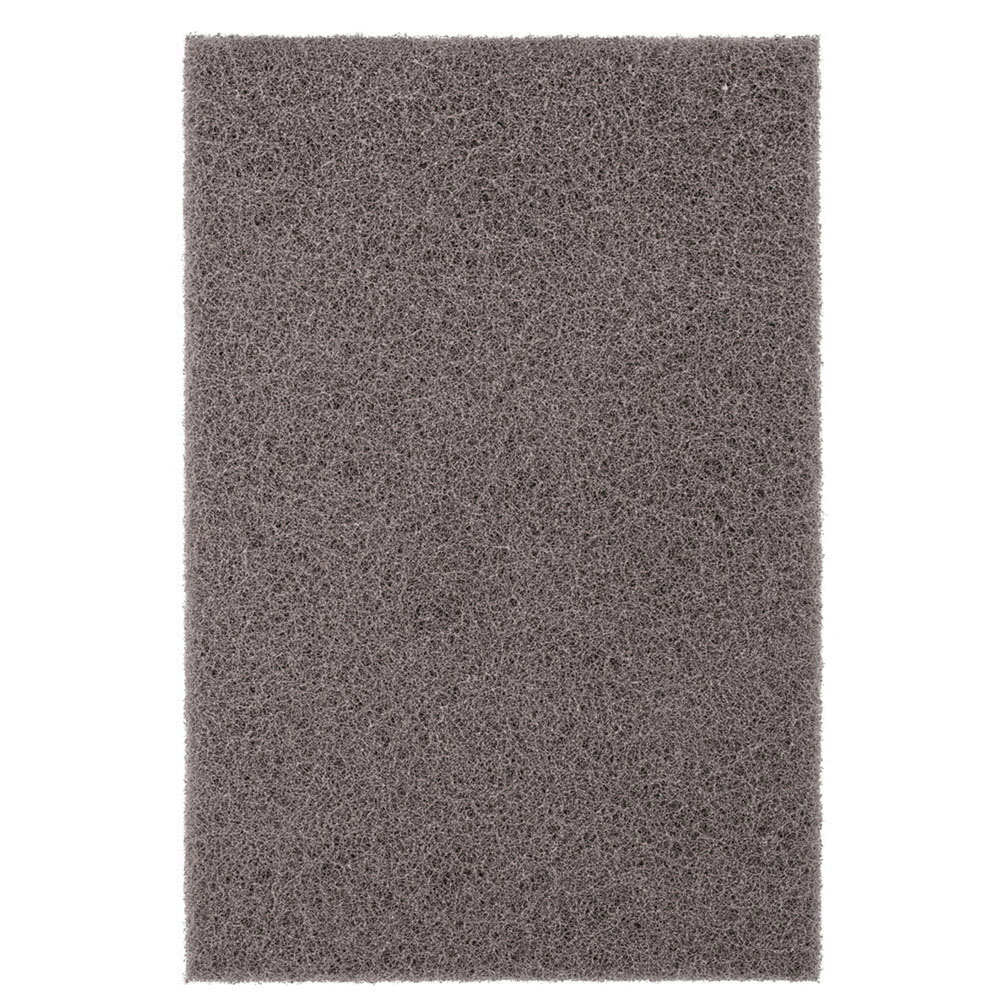 PFERD POLIVLIES® 44609 Silicon Carbide Abrasive Ultra Fine Hand Pad, Gray, 9 in L x 6 in W