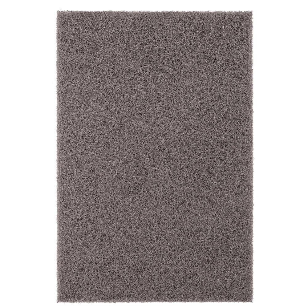 PFERD POLIVLIES® 44609 Silicon Carbide Abrasive Ultra Fine Hand Pad, Gray, 9 in L x 6 in W