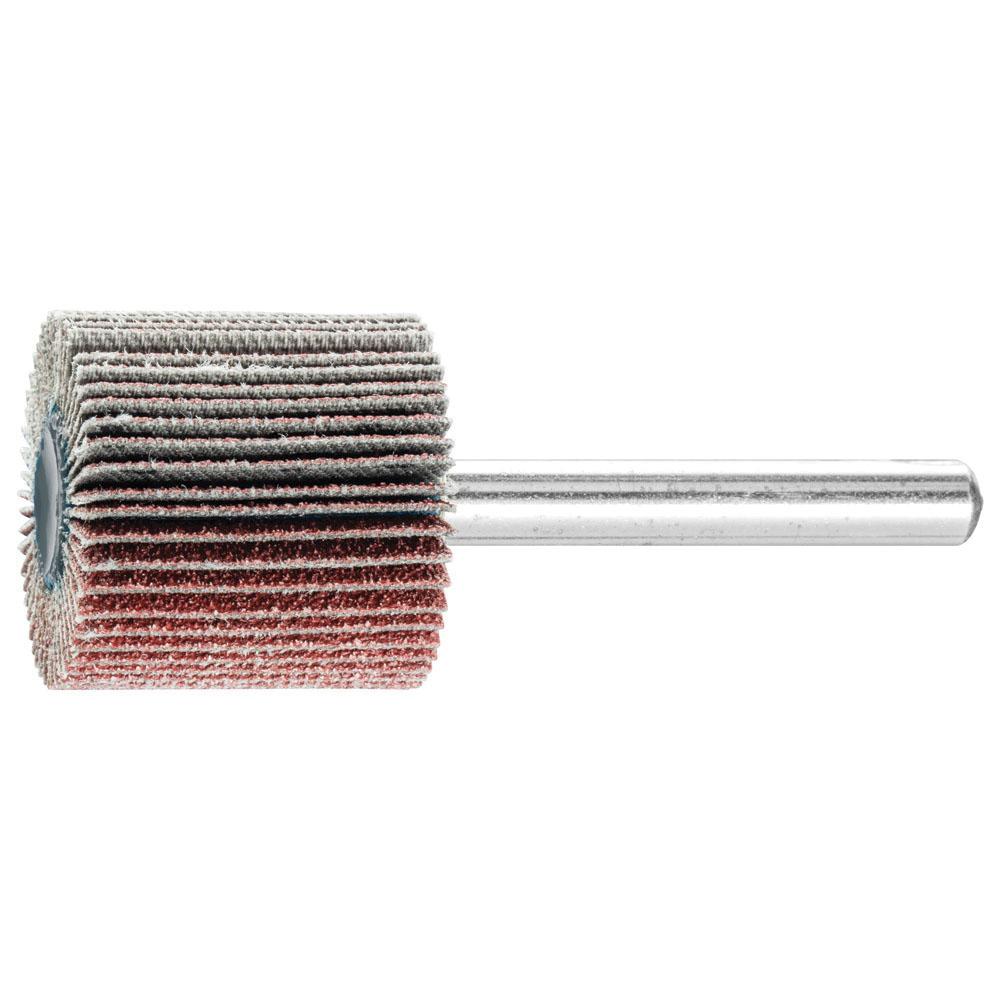 PFERD 45185 Aluminum Oxide Mounted Standard Flap Wheel, 1 in, Grit 80, 25000 rpm
