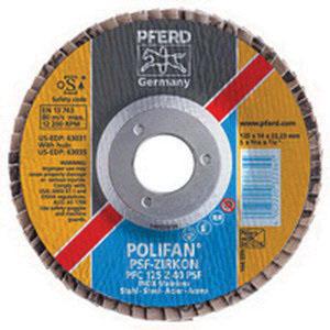 PFERD Polifan® 62052 Zirconia Alumina Conical Universal Line Flap Disc, 4-1/2 in, Grit 40