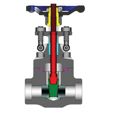 Powell Valves GA01FA58GB Forged Carbon Steel Gate Valve, 2 in, Flanged, 150 psi