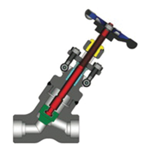 Powell Valves GY16SF25GW Forged Steel Standard Bore Globe Valve, 1-1/2 in, Socket Weld, Class 1690