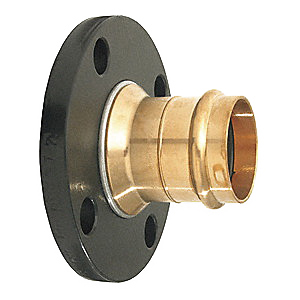 ProPress® 19718 Bronze Flange Adapter, 1-1/2 in, Press x Flanged